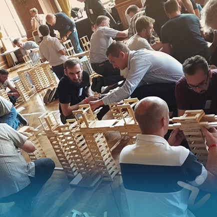 team building construction kapla