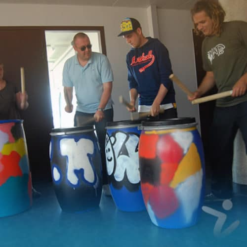 team building percussion du bronx