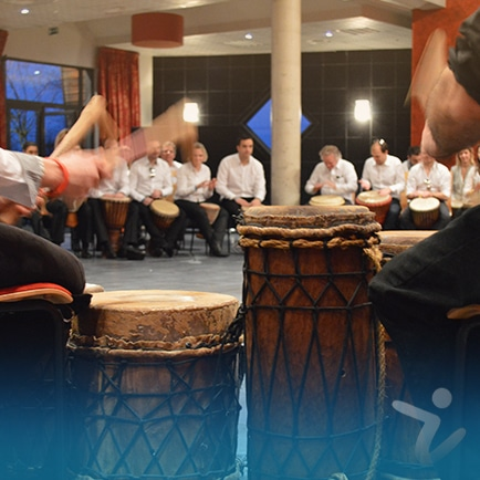 team building musique - percussion africaine